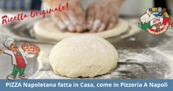 Ricetta per fare la pizza napoletana fatta in casa: tutti gli ingredienti e la preparazione spiegato passo a passo.